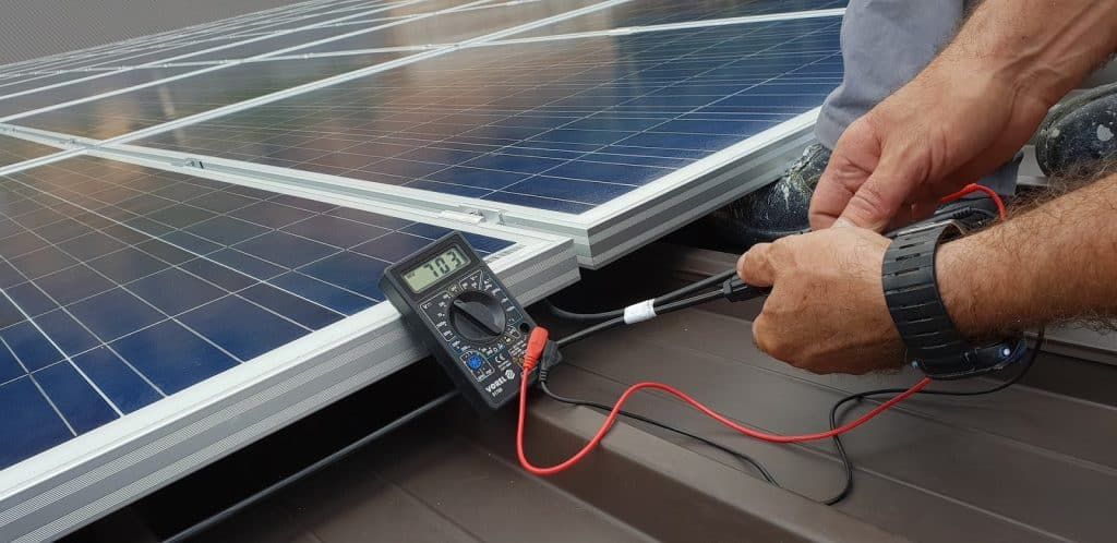 Photo of solar panel fuse which prevents power overloading of the controller